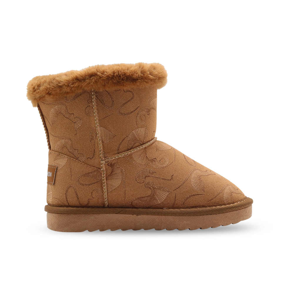 Apakowa Winter Mädchen der Schnee Stiefel kinder Slip-On Warm Kurze Plüsch Winter Schuhe Comfy Kinder Pu Leder martin Stiefel für Mädchen