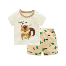 HANQIYAHULI baby boys summer clothing set short-sleeved T shirt+shorts 2 pieces casual cotton new style clothe