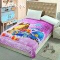 Envío libre de Los Niños de dibujos animados de Coral polar mantas de la cama, Masha y Oso ropa de cama, cubierta, Colcha 150X200 CM