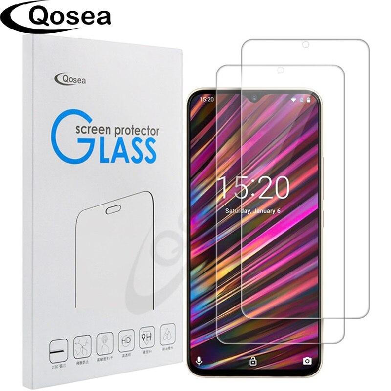 Qosea (2 PACK) téléphone protecteur d'écran Pour Umidigi F1 verre trempé film de protection 9 H Ultra-mince Clair Pour Umidigi A3 Umi F1