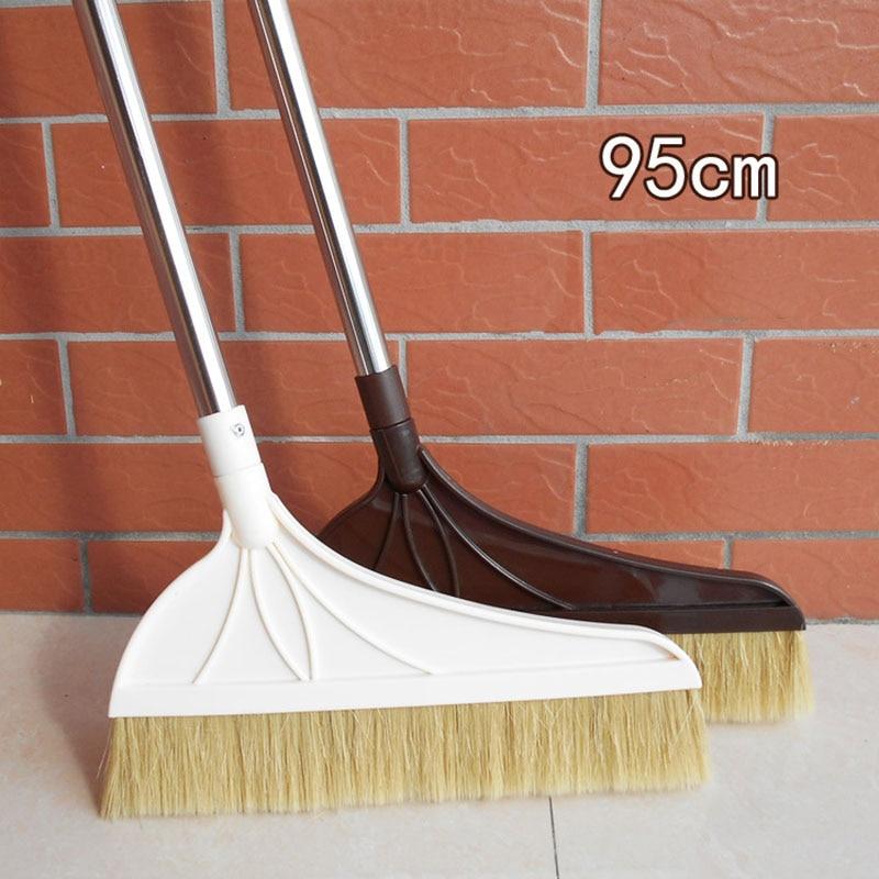 buy lynnne mane broom sweep the floor stainless steel broom wooden floor cleaning tools household cleaner anti static soft brush from