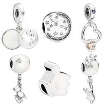 dodocharms 925 Silver Bear Mouse Love MOM Balloon Bead Fit Original Pandora Bracelet Women Charm DIY Jewelry