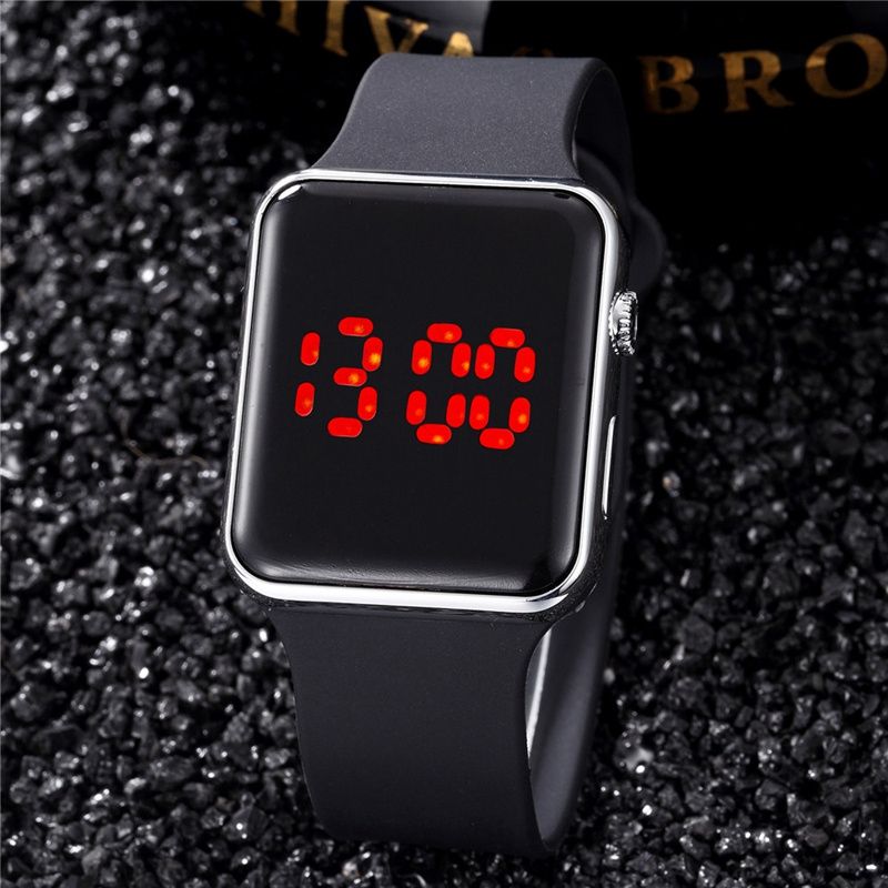 Waterproof Black LED Fitness Watches Men Women Sport Digital Watch Unisex Electronic Clock Man Ladies Military Watch Hot Sales 2018 silicone led sports watches men women dress children electronic led digital watch man ladies morning running sport watch