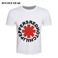 Red Hot Chili Peppers T Shirt Men Hip Hop T Shirt Skate Fitness Rock Summer Loose