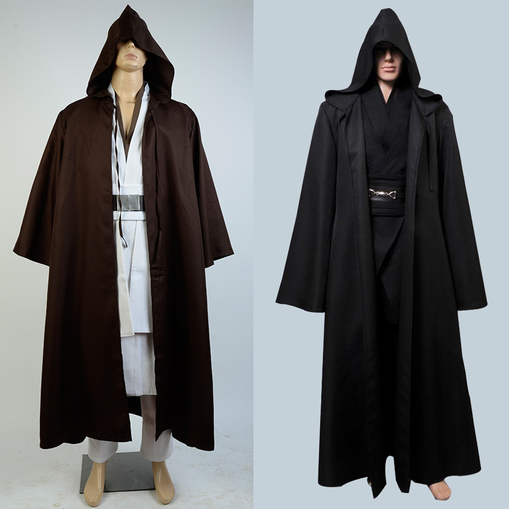 Star Wars cosplay Costume Jedi Knight Cosplay Costume Anakin Costume black/brown color Full Set Uniform Halloween Carnival men