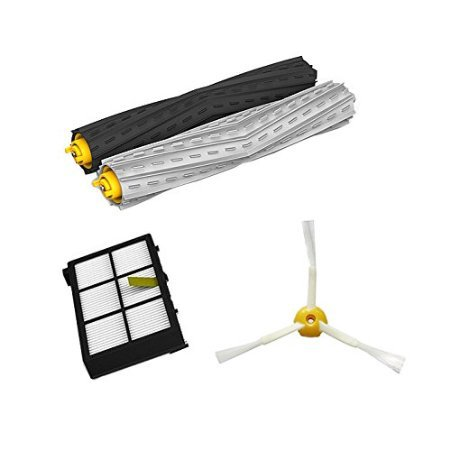 Tangle-Free Debris Extractor brush + HEPA Filter + Side Brush Kit For iRobot Roomba 800 860 864 870 880 980 replacement parts high quality debris extractor brush hepa filter side brush kit for irobot roomba 800 870 880 980 vacuum cleaner parts