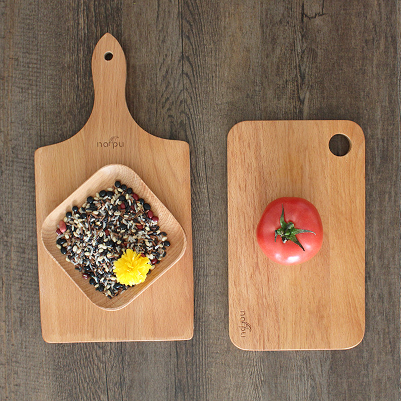 Block Board Solid Wood Board ~ Cooking tools friendly rectangle solid wood cutting board
