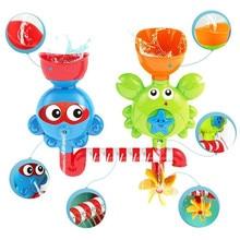 Водопад водяная станция для ванной игрушки-игрушка для ванной с двумя штабелируемыми чашками фонтан воды игрушки для ванной для детей Дети