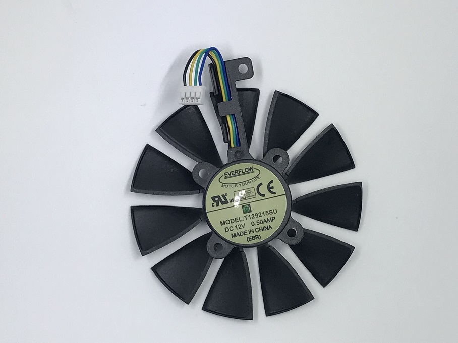 Everflow 87MM T129215SU 4Pin 0.50A Cooling Fan For GTX 980 Ti GTX 1050 1060 1080 1070 RX 480 470 Graphics Card Cooler Fans image