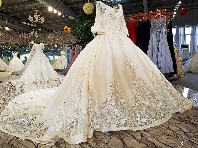 Backlakegirls Vintage Ball Gowns Wedding Dress Flowers Applique ... 25b0c402f9e9