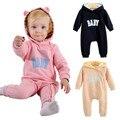 Macacão de bebê da marca de manga longa hoodies roupas de bebê menino roupa macacão de bebe recem nascido de marca ropa bebe recien nacido