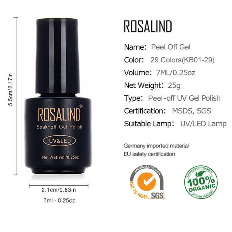 רוזלינד 7 ML לקלף סדרת UV LED ג 'ל פולני חצי קבוע לכה עיצוב של ציפורניים לכה מניקור ג' ל