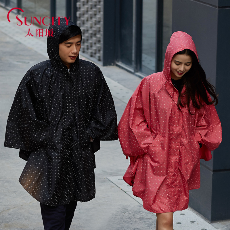 a361725bc 2018 Fashion WPC Red/Black/Blue raincoat women men poncho waterproof Rain  Coat Ponchos Jackets Chubasqueros Impermeables Mujer