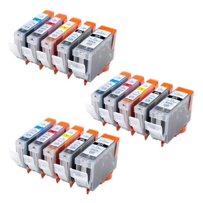 PGI5 BLK CLI8 BLK C M Y Ink Cartridge for Canon Pixma iP5300 iP5200 iP4500 10pK