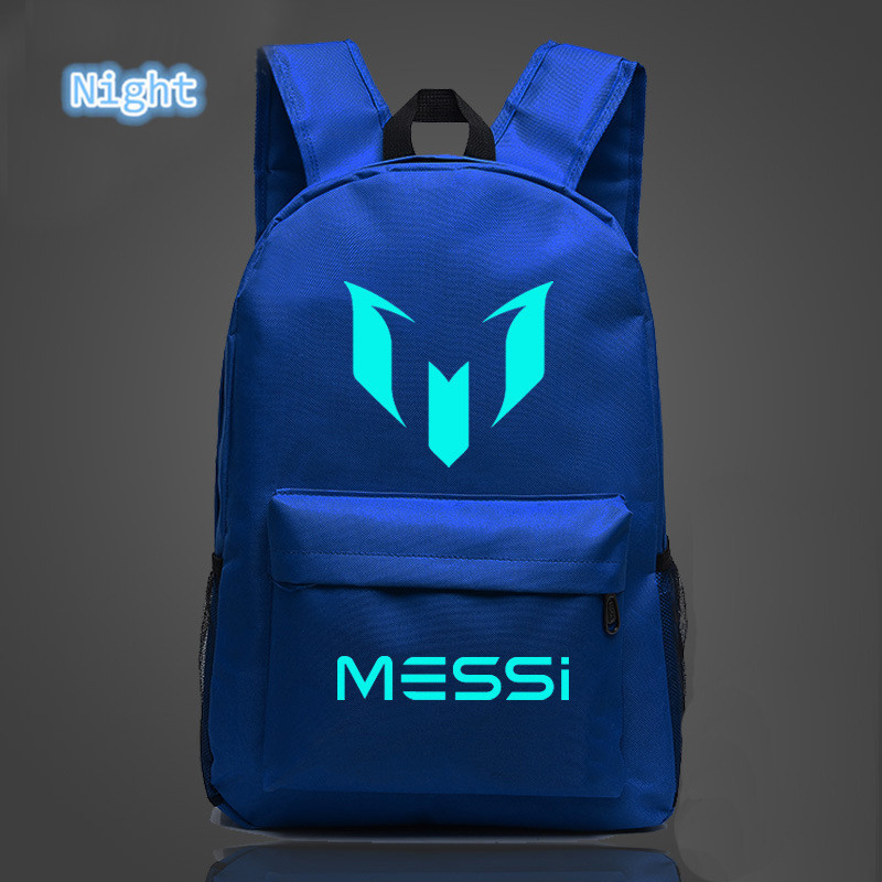 59acf42115 2018 School Shoulders Soccer Bags Barcelona Messi Backpack Logo Printing  Luminous Backpacks For Children Kids Travel Mochila-in Backpacks from  Luggage ...