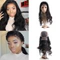 Toni olaoye recomendar hot beauty hair 360 frontal del cordón con tapa del cuerpo peruano wave pre arrancó rayita natural