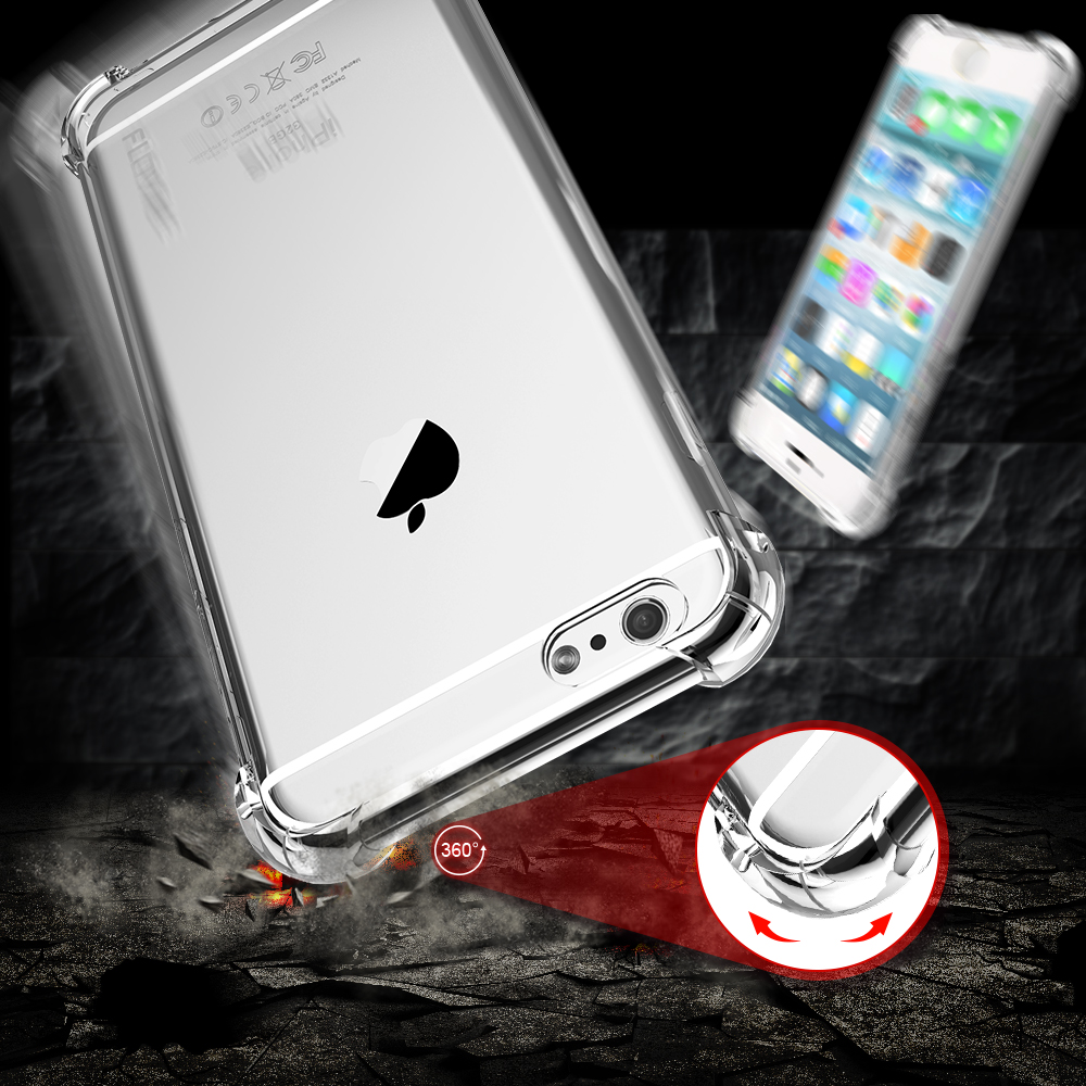 FLOVEME Super Anti knock Case For iPhone 6 6S 6 S Plus Soft TPU Gel Candy  Drop proof Clear Armor Cover 360 Full Protection Capa on Aliexpress.com  43f3c40dc5
