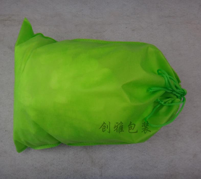 QSHOIC 50pcs lot 39cm 30cm drawstring bag non woven sack with rope storage bag document file bag fabric file folder with string in File Folder from Office School Supplies