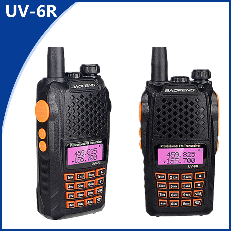 2PCS Baofeng UV-5R Upgraded Version UV-6R Dual Band Two Way Radio for Walkie Talkie 128CH CTCSS DCS FM Transmitter CB Radio2PCS Baofeng UV-5R Upgraded Version UV-6R Dual Band Two Way Radio for Walkie Talkie 128CH CTCSS DCS FM Transmitter CB Radio
