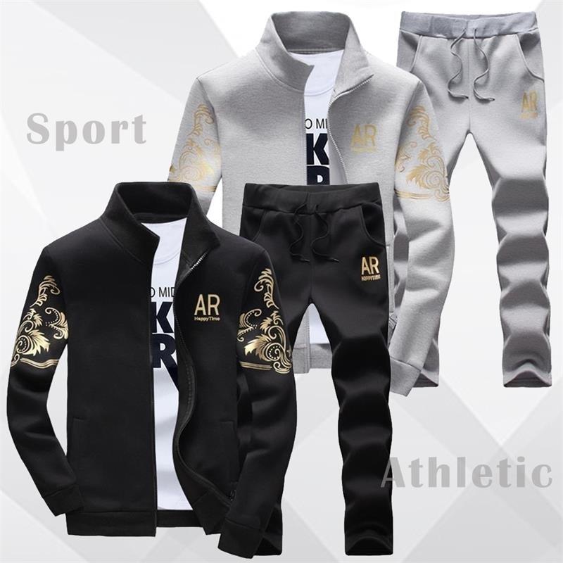 4fe959f6 Американский размер, Мужская одежда, мода 2019, повседневный спортивный  костюм, мужской спортивный костюм