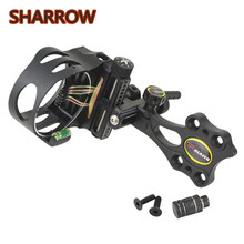 1Pc Archery Bow Sight 5 Pin 0.019 Micro Compound Adjustable 2 HD Fiber Guard For Outdoor Shooting Training Accessories