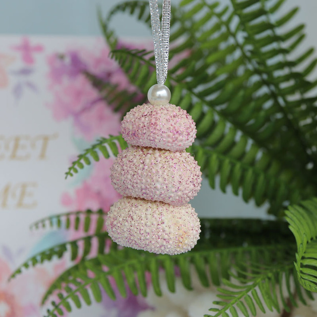 Us 7 97 5 Off Free Shipping 3pcs Lot Full Flashing Sea Urchin Christmas Pendant Drop Ornaments Natural Shell Conch Handmade Party Diy Decor In