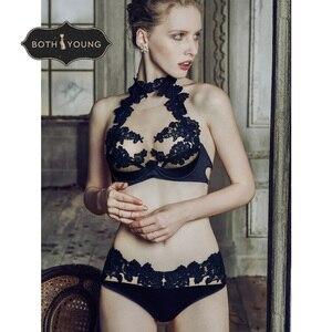 Image 3 - Bothoyung 2019 여성을위한 새로운 섹시한 란제리 레이스 수 놓은 숙녀 bralette 속옷 섹시한 푸시 업 브래지어 세트