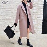 Brand Woolen Coat Women 2016 Winter New Arrival Winter Coat Women Long Fashion Loose Plus Size