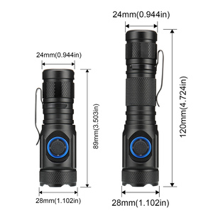 Image 2 - 80000LM powerful mini tactical led flashlight usb cree XML R2 led torch waterproof 16340 or 18650 battery USB  rechargeable