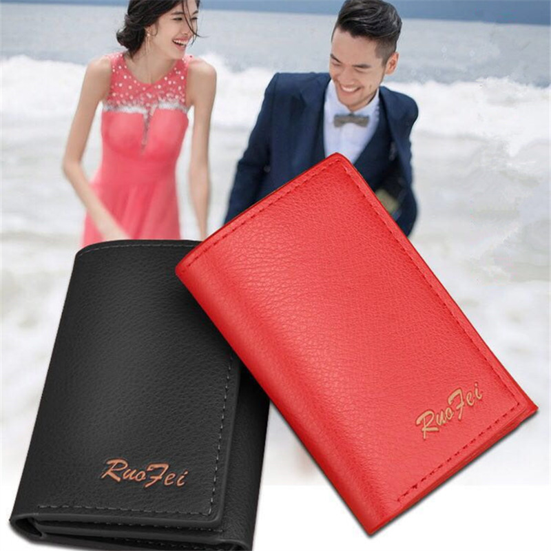 New fashion Brand Women Wallet ID Card Holder Coin Purse With Men Wallet Fashion wallet A6 never leather badge holder business card holder neck lanyards for id cards waterproof antimagnetic card sets school supplies