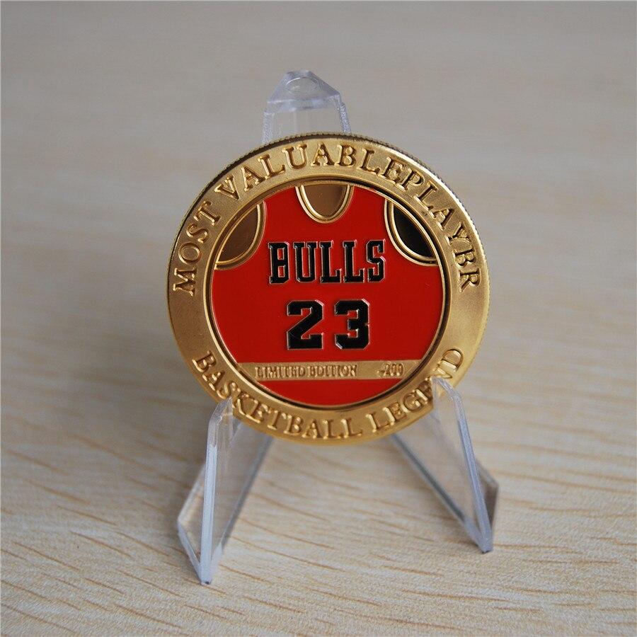5pcs/s lot free shipping the basketball legend most valuable player Michael JORDAN souvenir coin