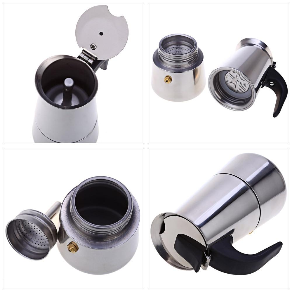 Кофейник из нержавеющей стали, аппарат для приготовления мокко, эспрессо, латте, Перколятор, Кофеварка, устройство для приготовления напитков 3