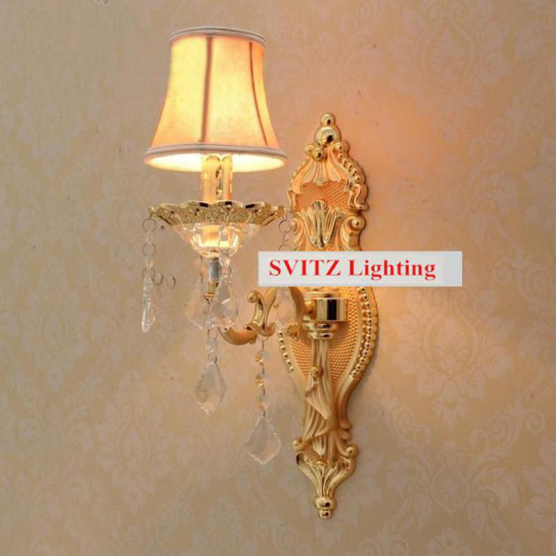 Free shipping wall Sconce Wholesale price led wall lights with fabric shade modern Wall lamps Europe fluorescent for bedroom new design nature white 2heads 6w 30cm led modern crystal wall lights lamp sconce factory wholesale led lightings