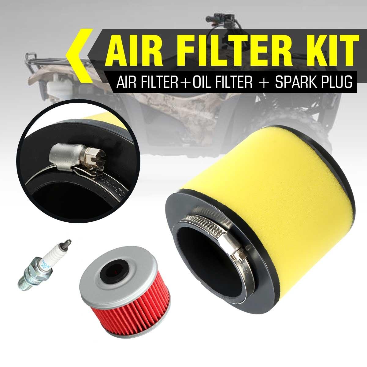Air Oil Filter Spark Plug 17254-HC5-900 For Honda FourTrax 300 TRX300 TRX300FW