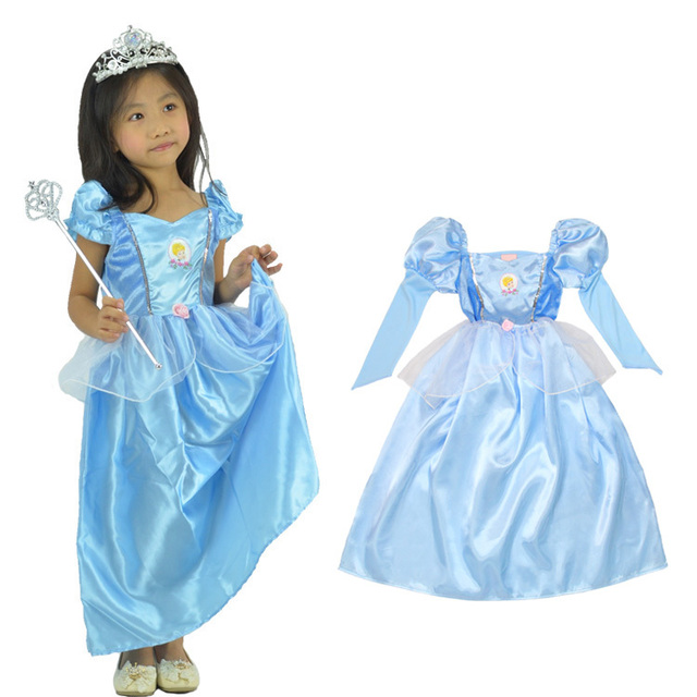 Party Cosplay Costume Supplier Cute Little Girl Christmas blue Cinderella dress Princess Halloween Costumes Fancy dress  sc 1 st  AliExpress.com & Party Cosplay Costume Supplier Cute Little Girl Christmas blue ...