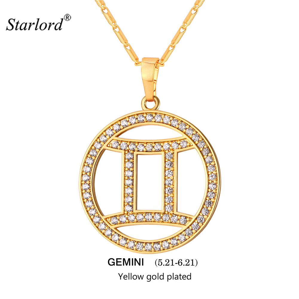 women weekday of gbp main product front pendant in image necklace gemini gold jewellery en