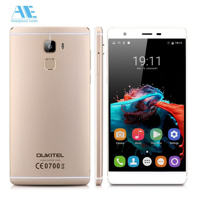 Original Oukitel U13 MTK6753 Octa Core Android 6.0 Smartphone 5.5 Inch Fingerprint 3G RAM 64G ROM 16.0MP Camera Mobile Phone