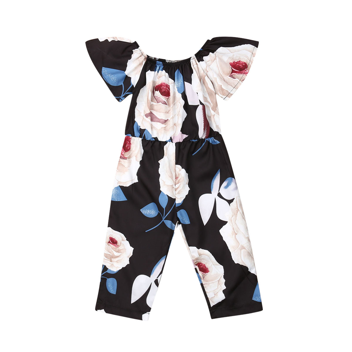 US 0-5Years Toddler Infant Baby Girl Kid Ruffle Flower Jumpsuit   Romper   Playsuit Clothes Outfit Clothes Summer