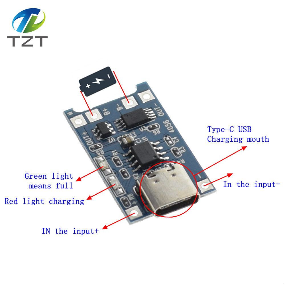 1pcs Tzt 5v 1a Type C Usb 18650 Lithium Battery Charging Board Charger Circuit 1 Html Further Nimh New 10pcs Lot