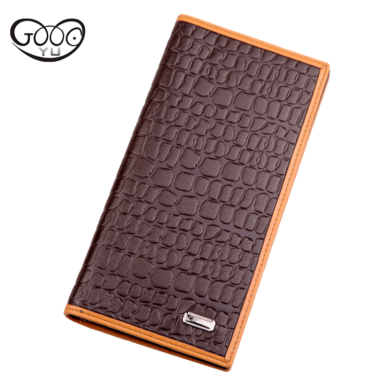 Men wallets embossed crocodile pattern decoration coin purse trend large capacity multi-card bit ultra-thin mens wallet