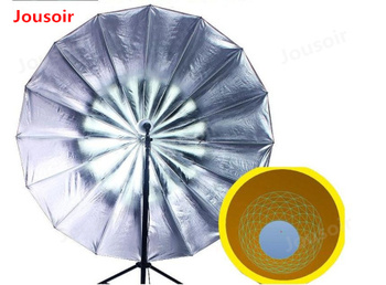 Photography deep mouth reflective umbrella Silver 16 deep mouth parabolic umbrella love Linglong lamp CD50 T06