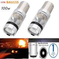 2Pcs Error Free For Car 100w LED Fog Light 1156 BAU15S PY21W 7507 Car Led Light