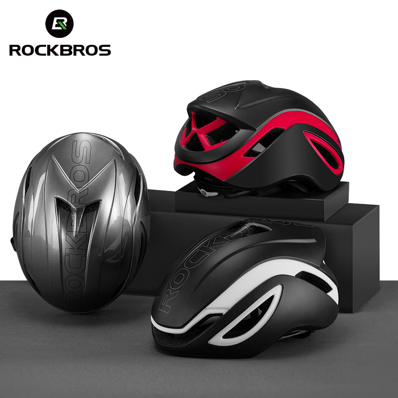 ROCKBROS Bike Helmet Men Ultralight EPS PC Cover MTB Triathlon Bike Helmet Integrally In mold Cycling