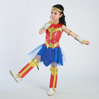 Wonder Woman Cosplay Costume For Girls Deluxe Child Dawn Of Justice Wonder Woman Costume Halloween Costume
