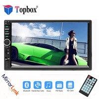 Topbox 2 din Autoradio Bluetooth Mirrorlink Car Stereo 7 HD MP5 Auto Multimedia Player Aux FM Input Receiver With Rear Camera