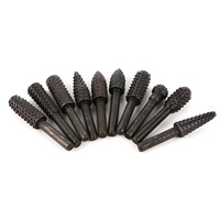 Safty And Reliable 10pcs Rotary Burr Set Wood Carving File Rasp Drill Bit 1 4in 6mm