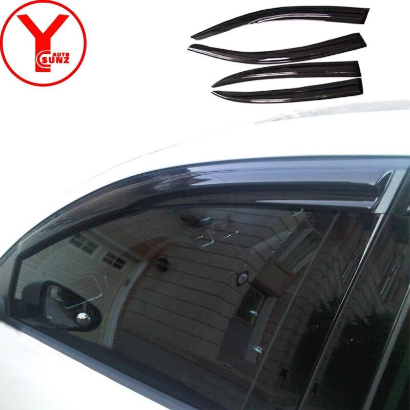 2011-2018 déflecteurs de fenêtre de vent latéral pare-brise de voiture pare-brise sur les fenêtres accessoire pour volkswagen JETTA 6 2012 2016 2017 YCSUNZ - 3