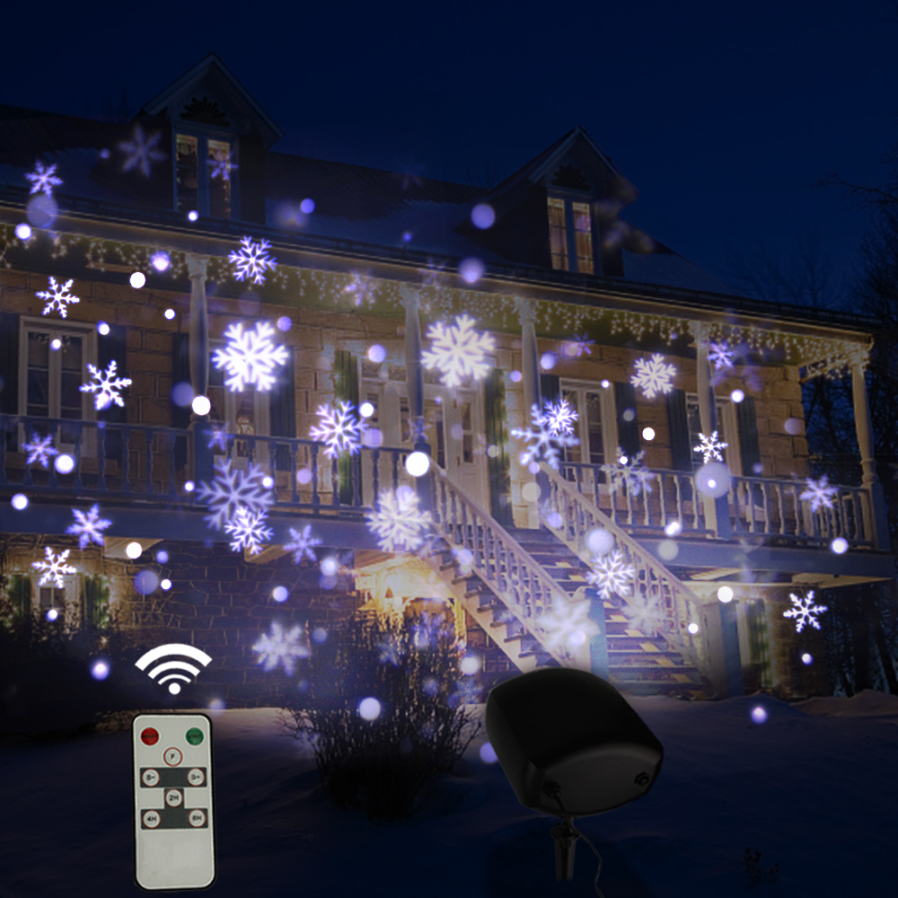 VNL IP65 télécommande LED noël Laser flocon de neige projecteur extérieur maison de vacances jardin mur mariage lumières décoration