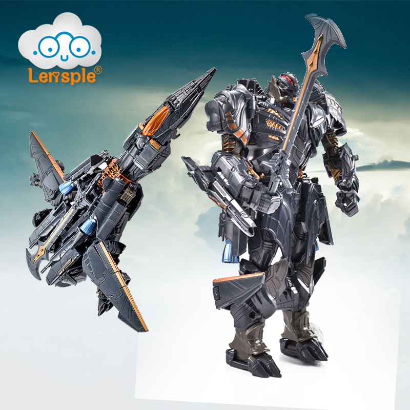 Lensple Transformation TF 5 The Last Knight Commander Masterpiece Deformation Toys Robot Action Figure Model Children Gifts [show z store] [pre order] tfc toys trinity force tf 03 wildchaser blacker transformation action figure