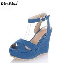 RizaBina бесплатная доставка клин сандалии женщин сексуальное платформа модной обуви обувь P13918 EUR размер 34-39